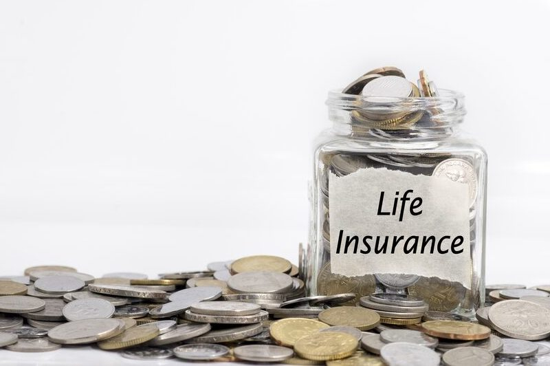 jar of coins labelled life insurance
